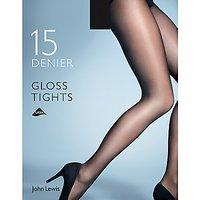 John Lewis 15 Denier Gloss Tights, Pack of 1