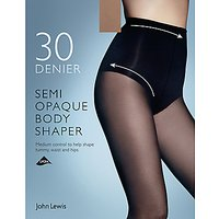 John Lewis & Partners 30 Denier Semi Opaque Body Shaper Tights