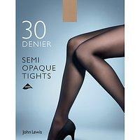 John Lewis & Partners 30 Denier Semi Opaque Tights