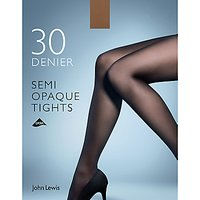 John Lewis 30 Denier Semi Opaque Tights