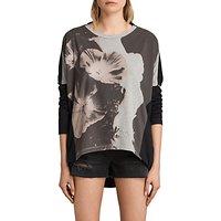 AllSaints Reality Wave T-Shirt, Multi/Black