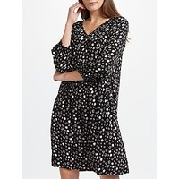 Collection WEEKEND by John Lewis Mono Floral Print Dress, Black/Grey