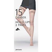John Lewis & Partners 15 Denier Hold Ups, Pack Of 2