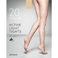 John Lewis & Partners 20 Denier Firm Support Active Light Sheer Tights