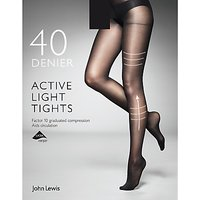 John Lewis & Partners 40 Denier Firm Support Active Light Opaque Tights
