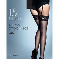John Lewis & Partners 15 Denier Gloss Stockings, Pack Of 1