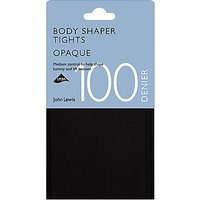 John Lewis & Partners 100 Denier Bodyshaper Opaque Tights, Black