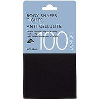 John Lewis & Partners 100 Denier Anti-cellulite Bodyshaper Opaque Tights, Black