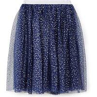 Yumi Girl Star Foil Tutu Skirt, Navy
