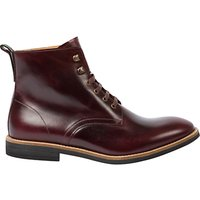 Paul Smith Hamilton Lace Up Leather Boots  Burgundy