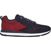 Paul Smith Rappid Lace Up Trainers  Dark Navy Red