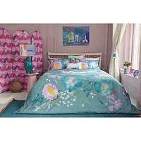 bluebellgray Kippen Print Cotton Duvet Cover and Pillowcase Set