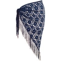 Chesca Floral Lace Shawl, One Size