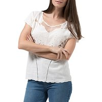 Sugarhill Boutique Butterfly Embroidered Cutwork Top