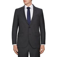 Hackett London Wool Semi Plain Regular Fit Suit Jacket, Charcoal
