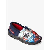 Spiderman Baby Soft Stretch Slippers, Navy