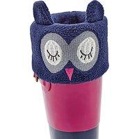 Little Joule Childrens Owl Smile Welly Socks, Navy