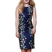 Yumi Tropical Bird Print Dress, Navy