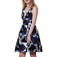 Yumi V-Neck Printed Dress, Multi