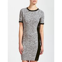 Calvin Klein Dania Slub Jersey Dress, Grey/Black