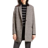Levis Andrea Check Coat, Daisy Jet Black