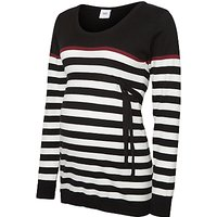 Mamalicious Anic Nell Long Sleeve Knit Top, Black