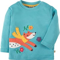Frugi Organic Baby Fox Appliqu Top, Blue