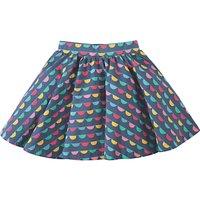 Frugi Organic Girls Sofia Skirt, Blue/Multi