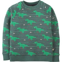 Frugi Organic Childrens Rex Dinosaur Jumper, Green