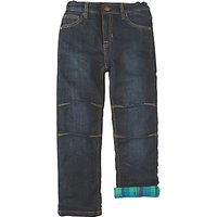 Frugi Organic Boys' Flannel Lined Jeans, Navy