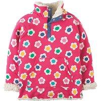 Frugi Organic Girls Snug Reversible Fleece, Pink/Multi