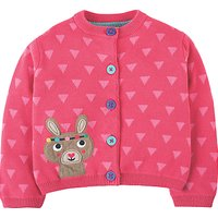 Frugi Organic Baby Little Betsy Cardigan, Pink