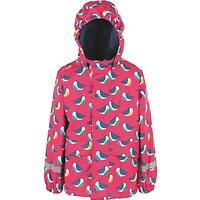 Frugi Organic Baby Penguin Waterproof Jacket, Pink