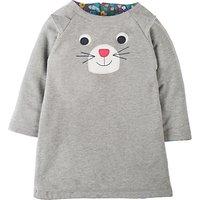 Frugi Organic Baby Peek-A-Boo Reversible Dress, Grey/Multi