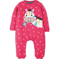 Frugi Organic Baby Soft and Cosy Horse Romper, Pink