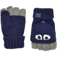 Little Joule Childrens Character Mittens, Blue/Grey