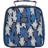Little Joule Childrens Bear Print Munch Lunch Bag, Blue