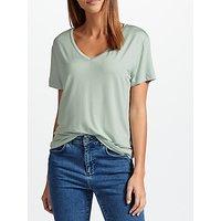 Samsoe & Samsoe Siff V-Neckline T-Shirt, Harbour Grey