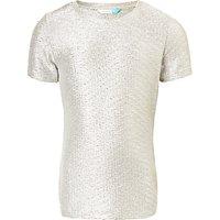 John Lewis Girls Metallic T-Shirt