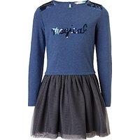 John Lewis Girls Magical Tulle Dress, Navy