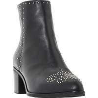 Dune Queenie Embellished Pointed Toe Ankle Boots, Black