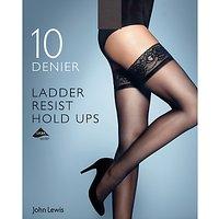 John Lewis & Partners 10 Denier Ladder Resist Hold Ups, Pack Of 1