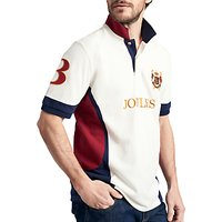 Joules Caspian Polo Shirt, Cream/Navy/Red