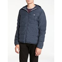 Fred Perry Insulated Hooded Brentham Jacket, Dark Airforce