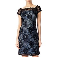 Adrianna Papell Lace Cocktail Dress, Black/Navy