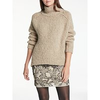 Modern Rarity Chunky Polo Neck Jumper, Biscuit