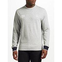 Fred Perry Logo Sweatshirt Jersey, Vintage Steel Marl