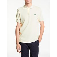 Fred Perry The Original Polo Shirt, Porcelain/Tartan Green Laurel