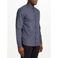 Fred Perry Three-Colour Basketweave Shirt, Medieval Blue