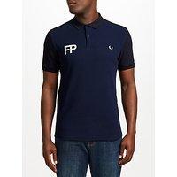 Fred Perry Logo Pique Polo Top, Navy